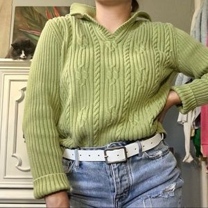 Collared Knit Top